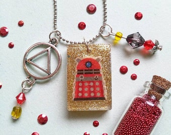 13) Trailer Doctor Who Dalek Red + 2. Band to change for free!
