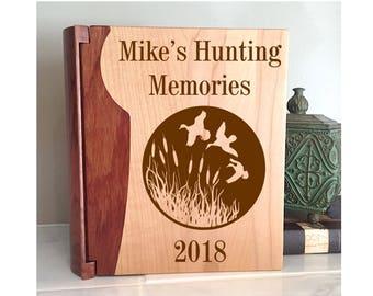 Personalized Hunting Memories Album, Hunting Gift, Hunting Memories Gift, Duck Hunter, Gift for Hunter, Hunting Memories, Duck Hunting 031