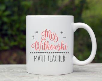 Math Teacher Coffee Mug, Teacher Coffee Mug, Back to School Teacher, Teacher Coffee Gift, Gift for New Teacher, Math Teacher Gift