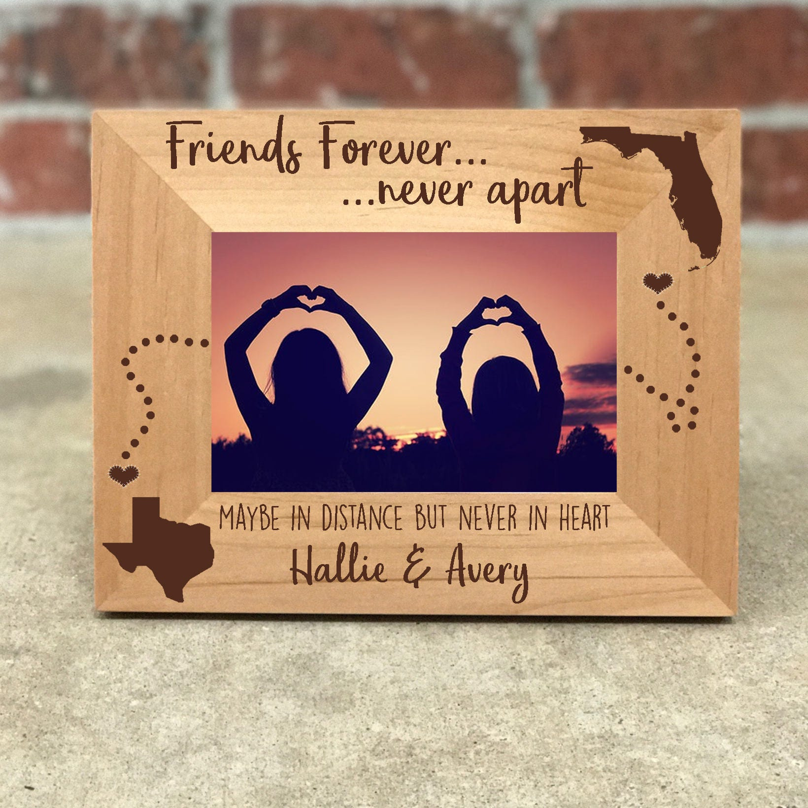 Personalized Best Friends Picture Frame Gift For Friend Long Etsy Boxer Untuk Pria Box 87