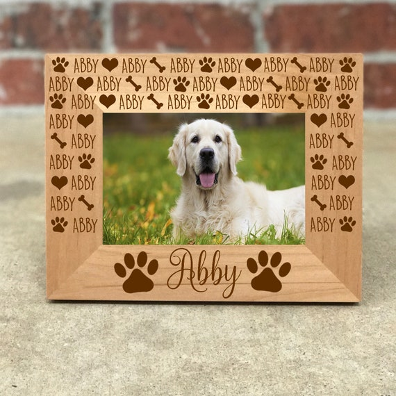 Personalized Dog Picture Frame Fur Baby Gift For Pet Lover Etsy