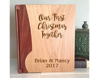 First Christmas Together Photo Album, Family Photo Album, Newlywed Gift, Wedding Gift, First Christmas, Christmas Photo Album 071
