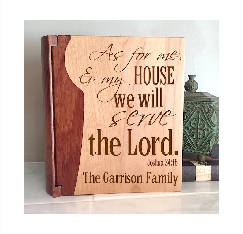 Personalized Family Photo Album, Joshua 24:15, Bible Verse Photo Album,  Housewarming, Wedding Gift, Bridal Shower, Birthday Gift Christian