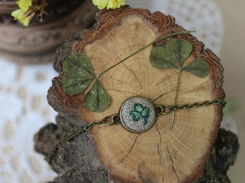 irish Gifts 3 Leaf Clover with Good Luck