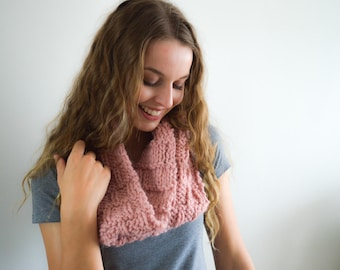 READY TO SHIP   The Rose Cowl   Knitted Cowl   Knitted Scarf