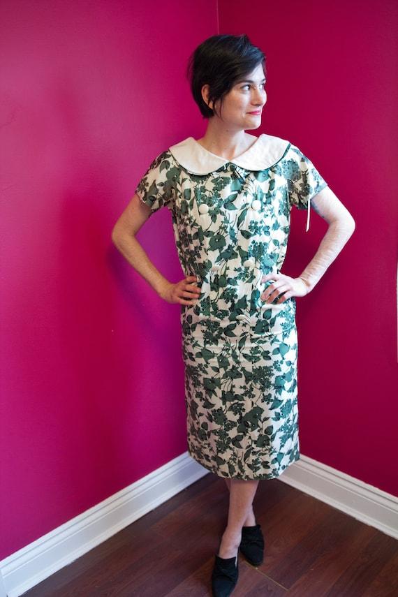 1950's/60's foliage day dress