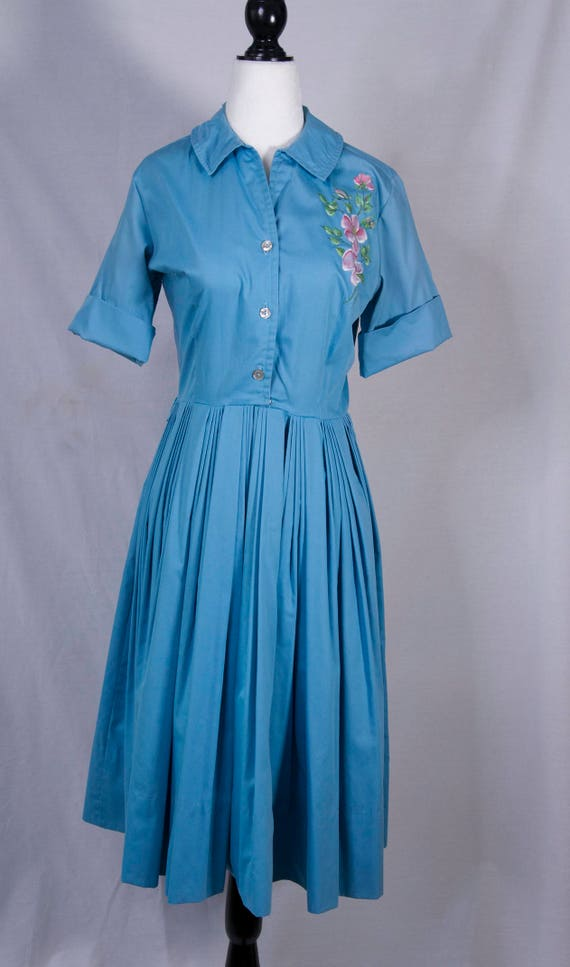1950's handpainted day dress