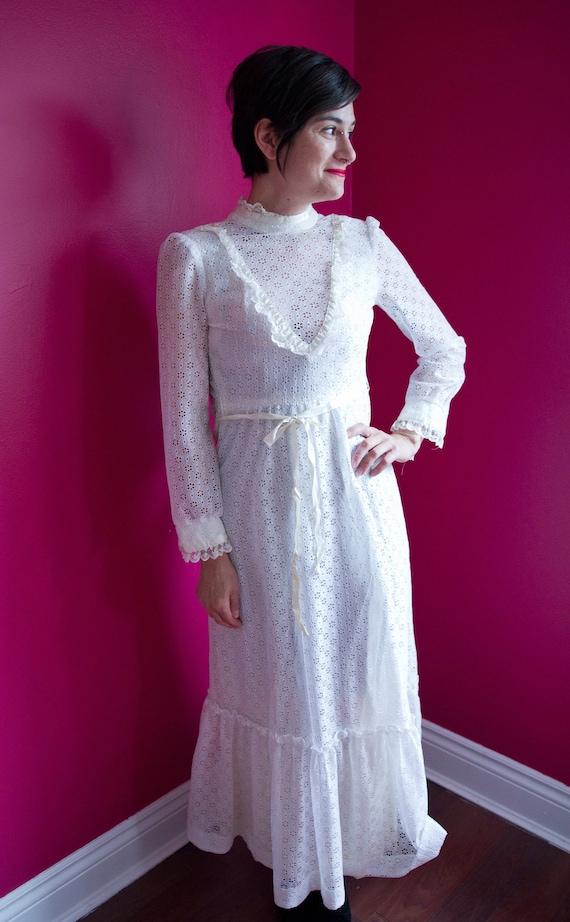 1970's lace wedding/formal dress