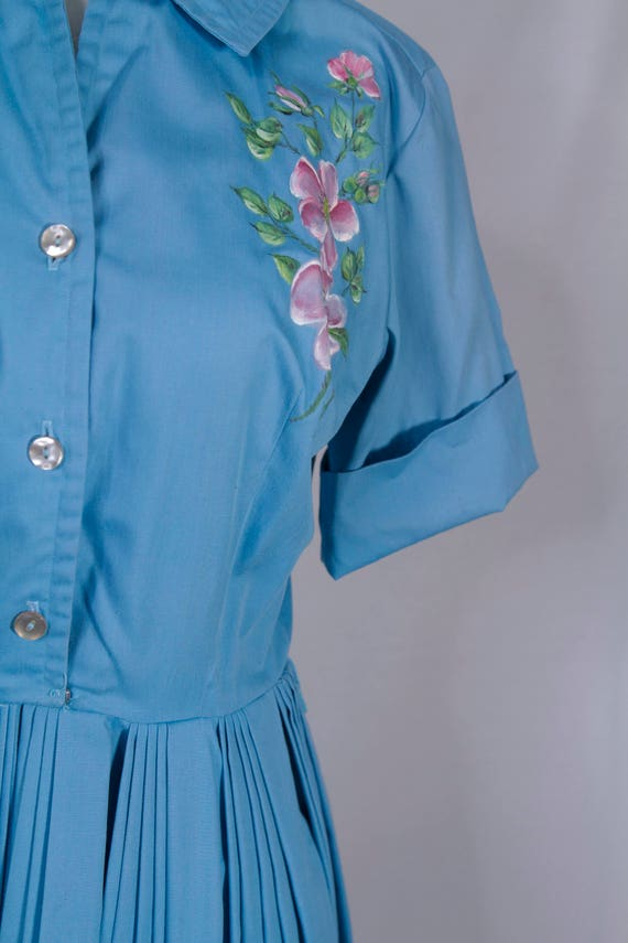 1950's handpainted day dress - image 2