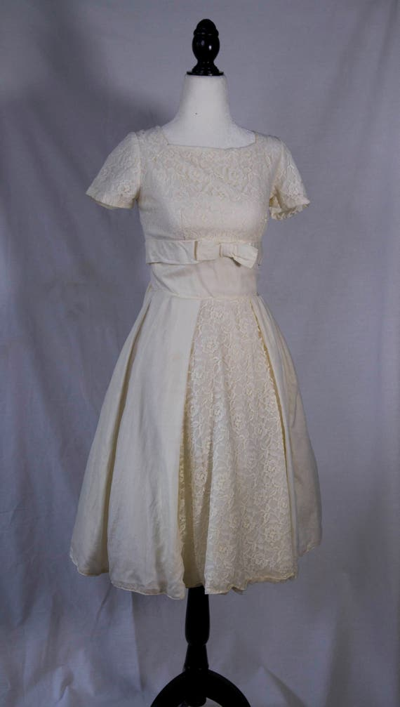 1950's white party dress
