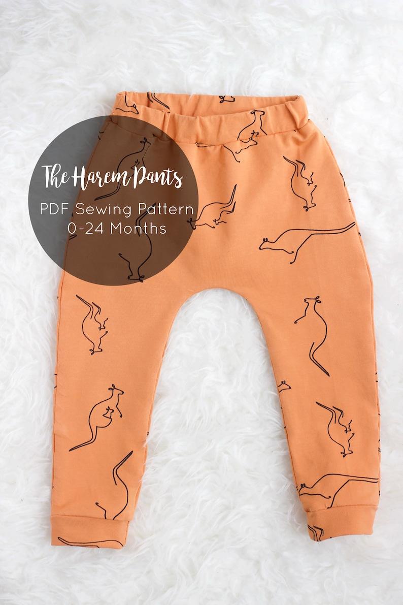 Harem Pants Pattern 0-24 months / PDF sewing pattern / image 0