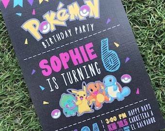 POKEMON GIRL BIRTHDAY Invitation