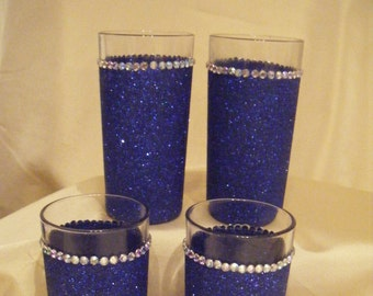 Bridesmaid / Flowergirl Glittered Tumbler Glass