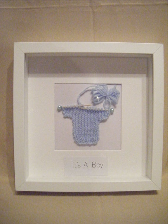 Its A Boy Framepicture Etsy