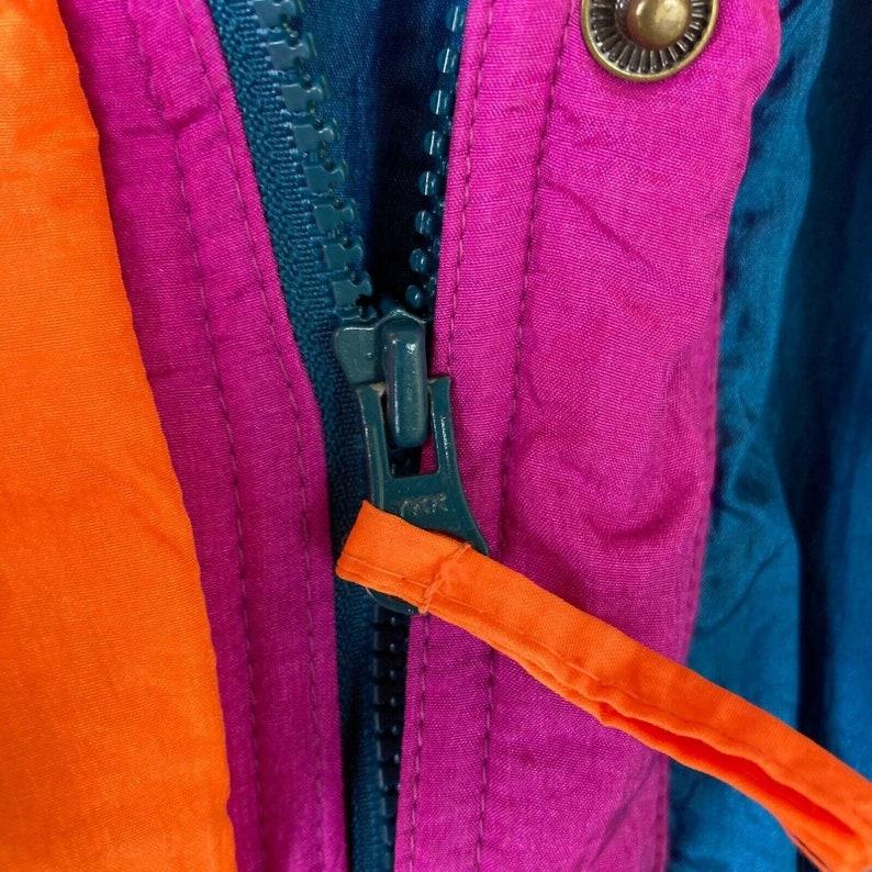 Vintage Helly Hansen Womens Europa Multicolor Zipped Ski Snow Jacket Size 10