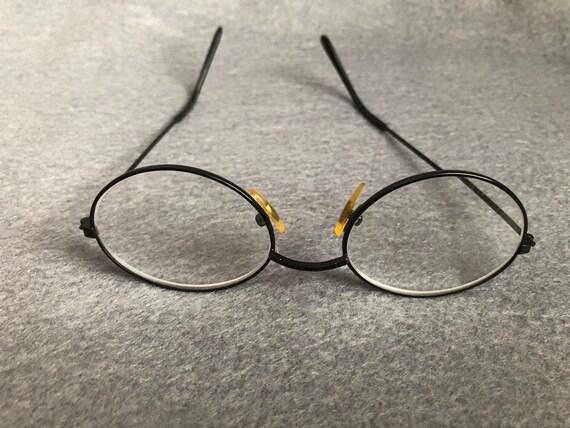 978e31cac47 Vintage oval round eyeglass frames black wire eyewear