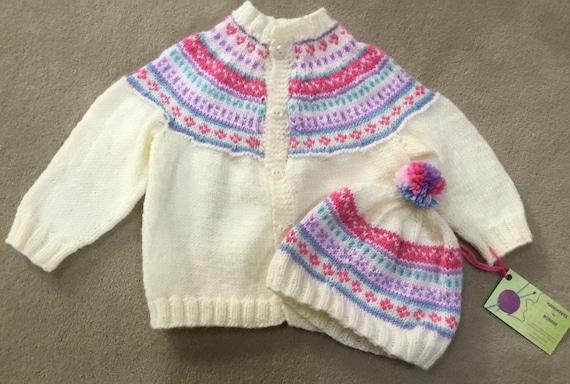Custom made Fair isle cardigan and hat