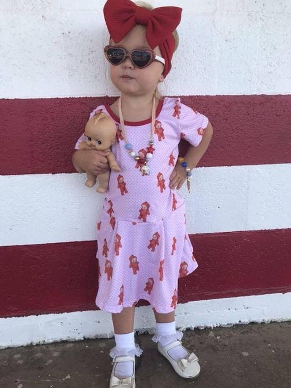 Jeune fille Scarlett dolly à pois un justaucorps de kewpie  84cdf8841b3