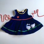 Vintage Heart Navy Primary Colors Goose Toddler Dress