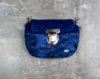 Stylish belt bag in different blue colours,