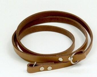 Leather bag strap, purse accessory,  bag strap, shoulder bag strap in cognac, bag accessory, strap