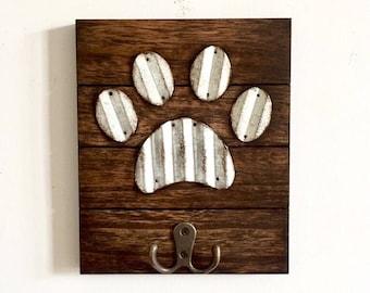 Dog Leash Hook, Dog Leash Holder, Rustic Dog Leash Hook, Leash Hanger, Leash Hook