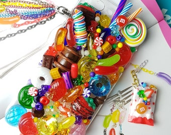 kawaii decoden phonecase-fake sweets-jelly bean candy chocolate