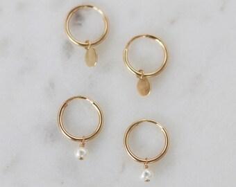 Tiny Hoop Earrings - Gold Hoop Earrings - Mini Hoop Earrings - Cartilage Hoop - Small Hoop Earrings - Gold Tiny Hoop - Christmas Gift
