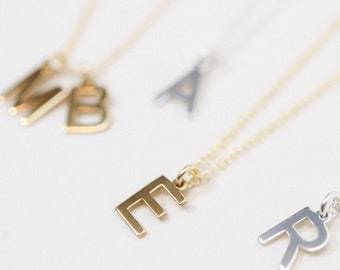 Tiny Initial Necklace - Tiny Letter Necklace - Dainty Letter Necklace - Bridesmaids Gift - Mothers Day Gift