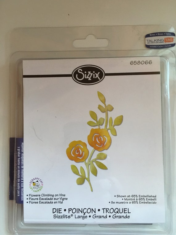 Rose with Stem and Leaves 658065 Declutter Sizzix sizzlet-Flower