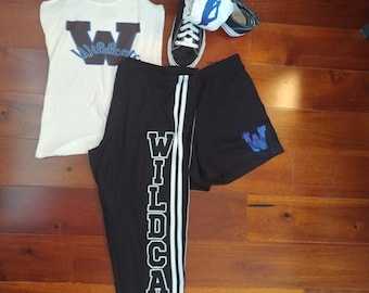 Custom cheer practice outfits. Cheer team tank, leggings, socks, shorts