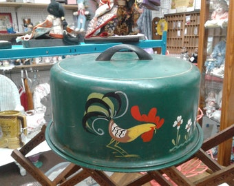 Green Rooster Cake carrier