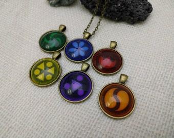 Sage Medallion Necklace, LoZ Inspired Necklace, Link Cosplay, Zelda Cosplay, Ocarina of Time
