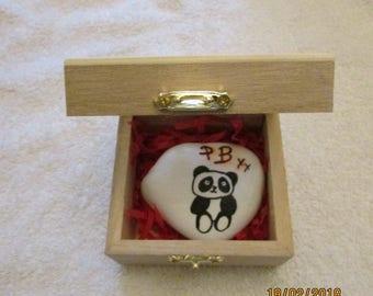 Painted Stone - Panda Bear