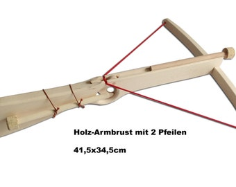Wooden crossbow nature / with 2 arrows / for children / from 3 years / handmade / wooden toys / knights / toys /