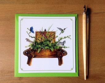 Treasure chest correspondence card