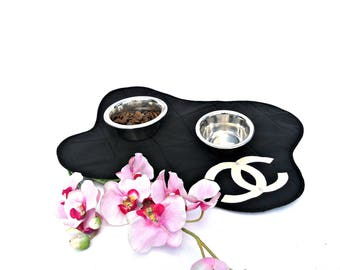 Personalized Pet Placemat /  Dog Bowl Mat / Dog Placemat / Cat Placemat / Placemat for Dog bowl / Dog or Cat Feeding Station