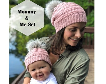 a9aed8ed6ff95 The Isabel Beanie Mommy and me set