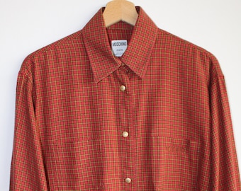 Moschino Shirt Vintage 90's Size L