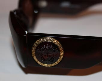 Gianni Versace Vintage Sunglasses Tortoise Mod. 422/E Col. 900 Greek Jellyfish