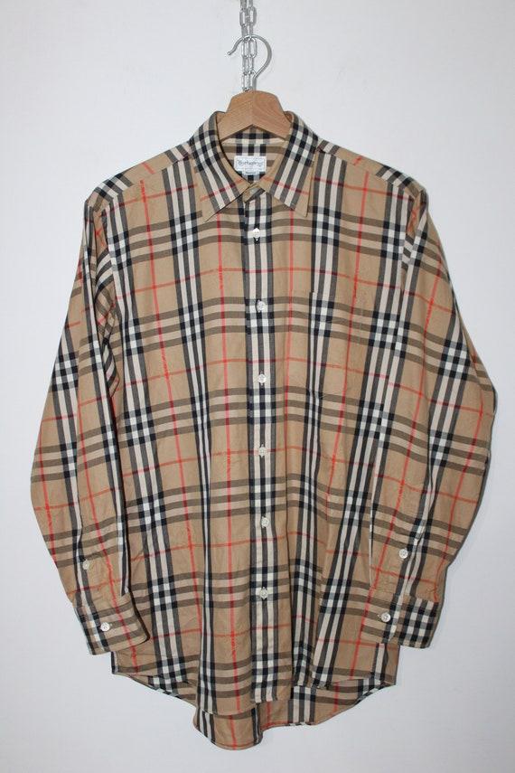 Nova Check Shirt 's Burberry MEtsy Vintage Taille 90 lc5JuFTK13