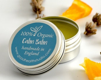 Stress Relief, Anxiety Relief, Panic Relief, Calm Balm, 100% Organic & Natural, Aromatherapy, Essential Oils, Lavender, Relaxing Gift, Relax