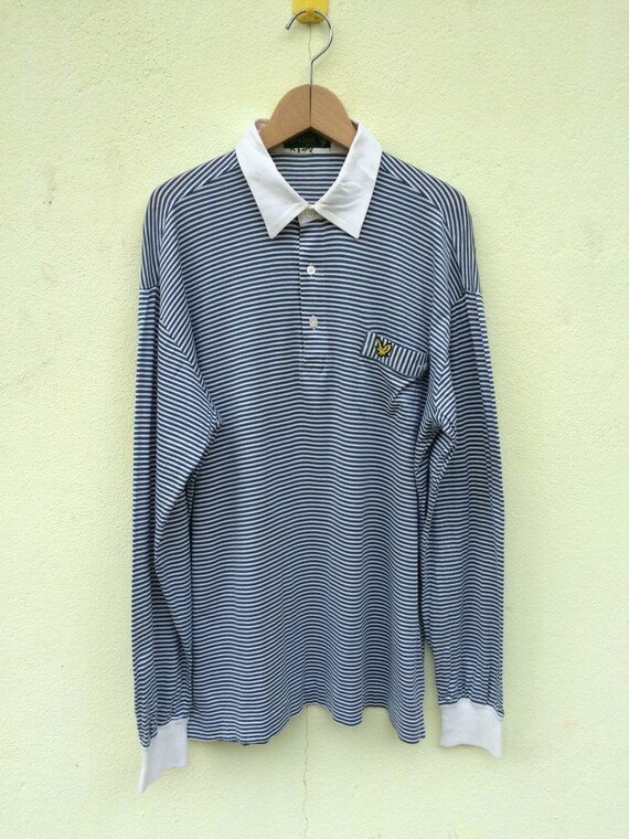 Vintage Lyle and Scott Longsleeve polo shirt / Lyl