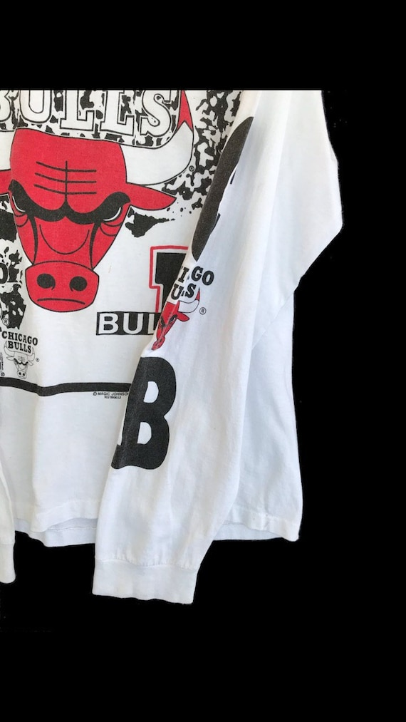 Vintage 90s Chicago Bulls by Magic Johnson T Shirt - image 4