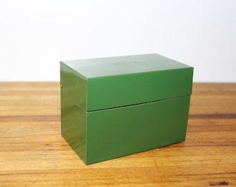 Metal Index File Box