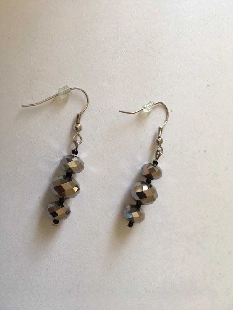 Bronze Chinese crystal earrings