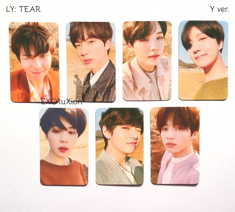 Bts Ly Tear Photocards Replica Etsy