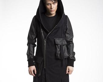 Spring autumn black coat