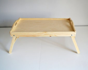 Large Breakfast Tray Bed Tray Tray With Legs Serving Tray Unfinished Tray Decorative  Wooden Tray Pine Tree Trays Untreated Wood Tray