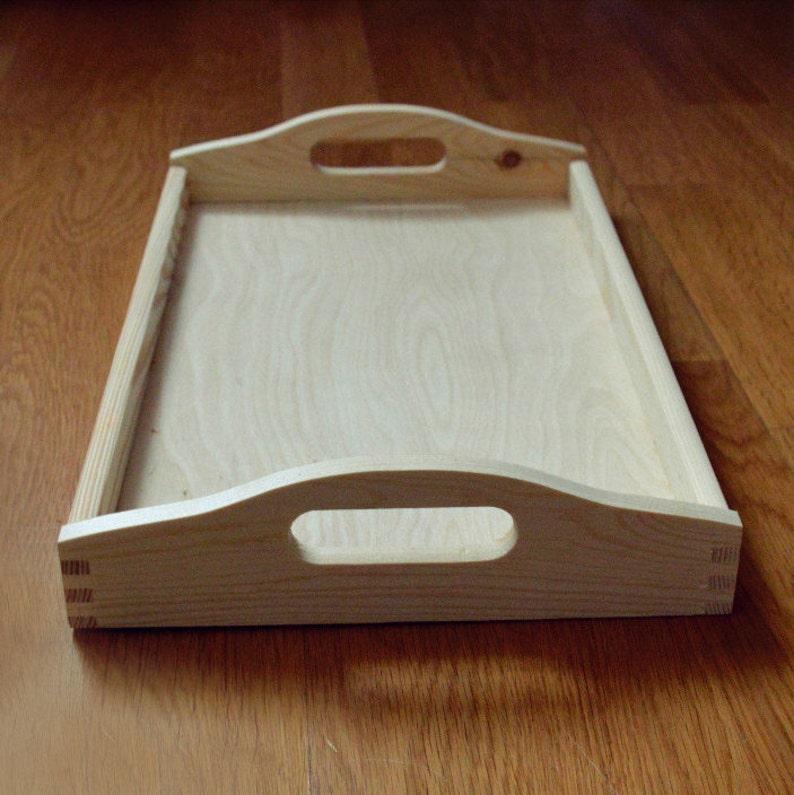 Large Breakfast Tray  Large Wood Serving Tray  Decorative image 0